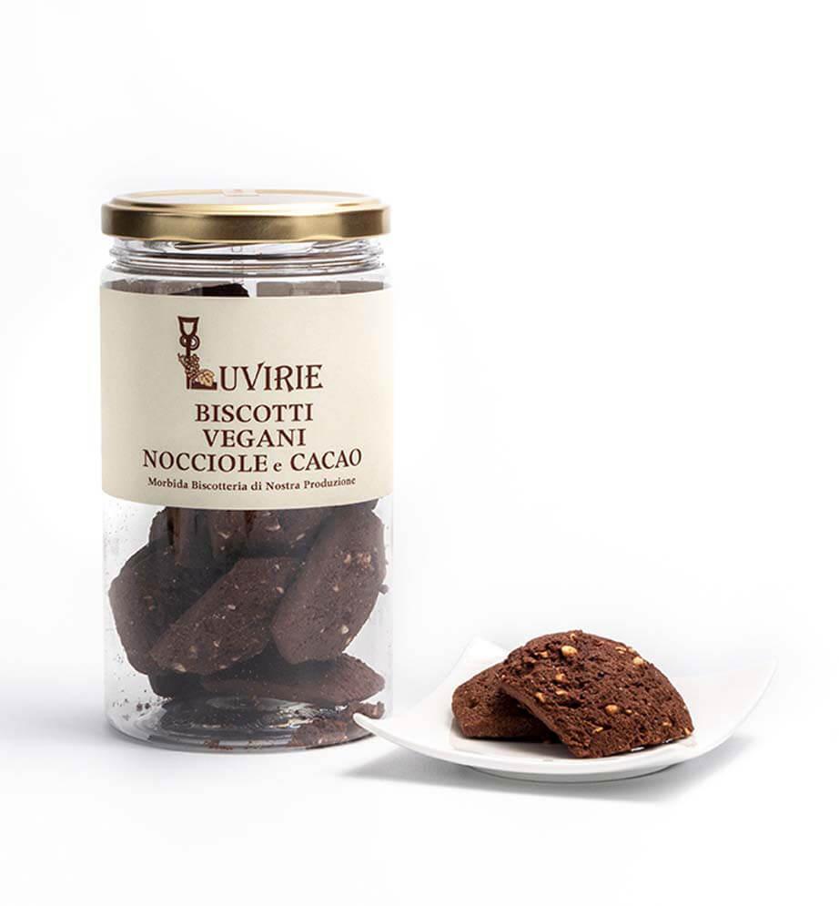 Biscotti Vegan, Cacao e Nocciole, Luvirie Romagna